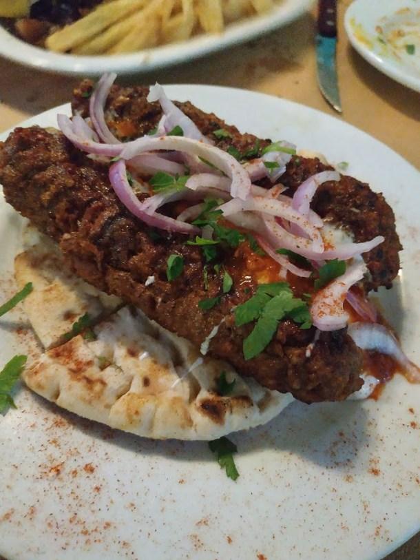 Kebabs in restaurant image