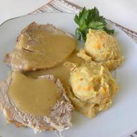 Greek Braised Pork with Celeriac and Vegetable Purée