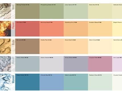"""Bianco, colori della """"mazzetta la tradizione del colore"""" e colori a campione. Clean Nettoyage Max Meyer Home Color Cartella Colori"""