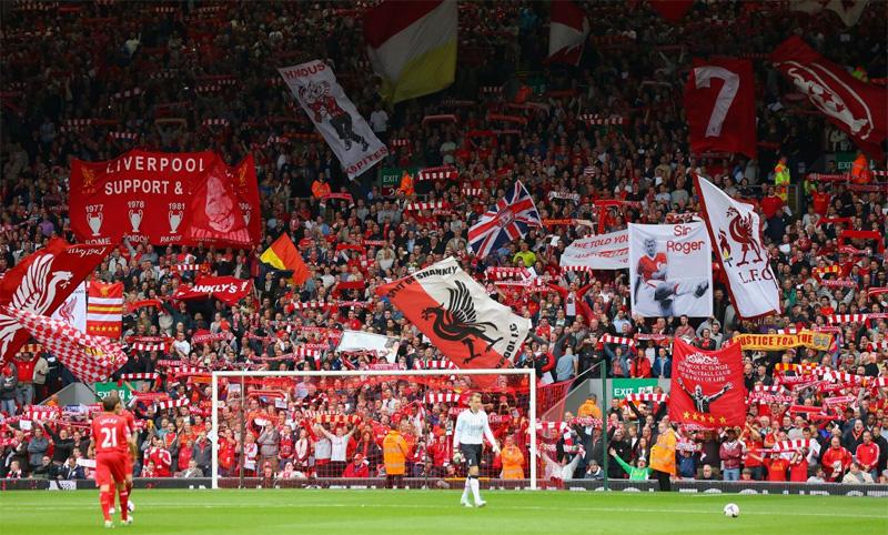 Image result for liverpool fans kop