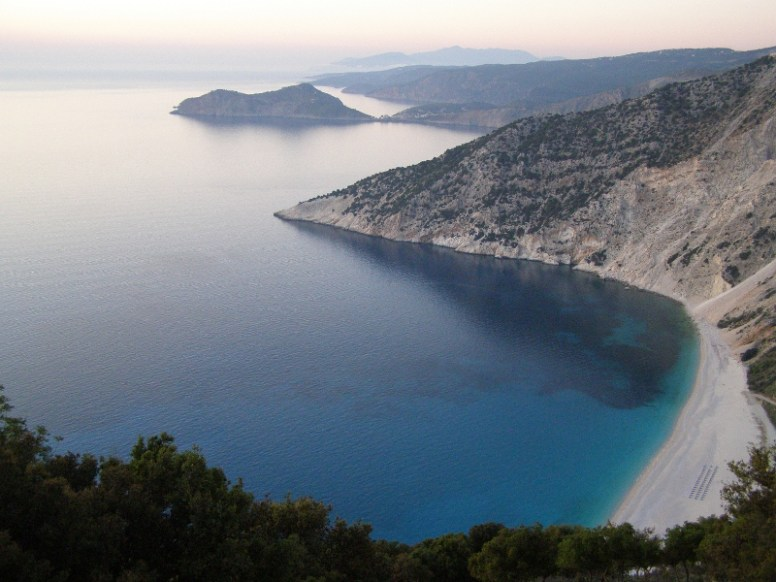 Myrtos - on the west of the island. The most enchanting beach and recently voted one of the top 5 beaches in the world and the most beautiful in Greece. Be very careful of the undercurrent!