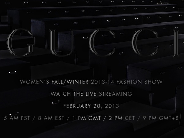Gucci Women's Fall Winter 2013 Runway Show