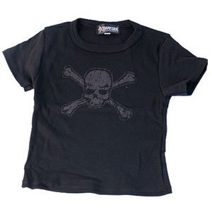 T-shirt Distressed Skull Enfant