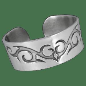 Bracelet Tribal Rigide en Etain