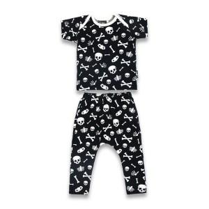 Pyjama Enfant Noir Skulls
