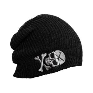 Bonnet Black Skull et Logo Hyraw Brodés