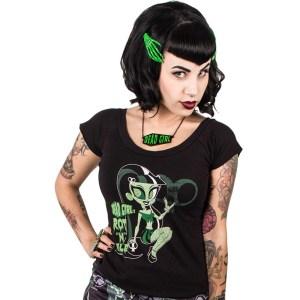 T-shirt Dead Riot Girl Rot n Rule
