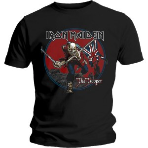 T-shirt Iron Maiden Trooper Red Sky