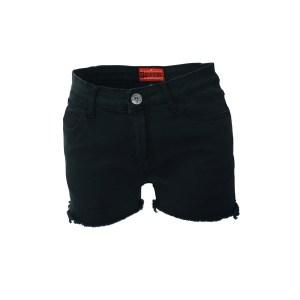 Short Denim Noir Taille Basse