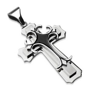 pendentif croix gothique