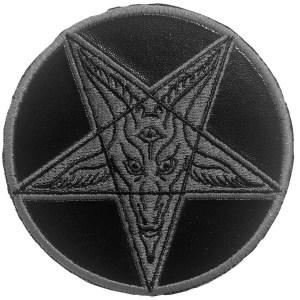 patch goathead pentagramme noir