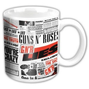 Mug GunsNRoses Lies Licence Officielle