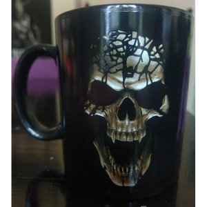 Mug Skull Blast Design thermosensible