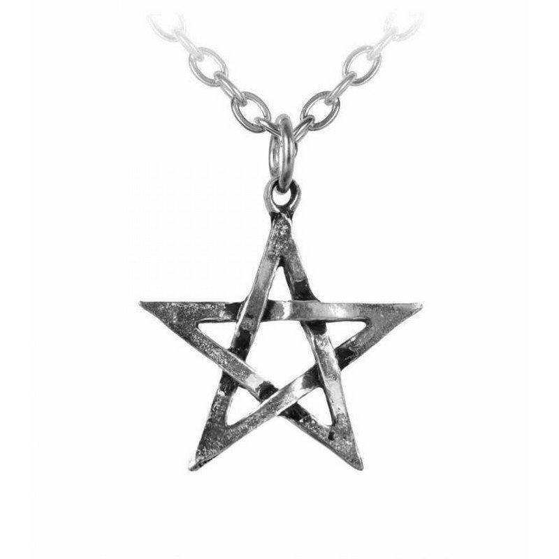 Pendentif Pentagramme en Etain avec Chaîne