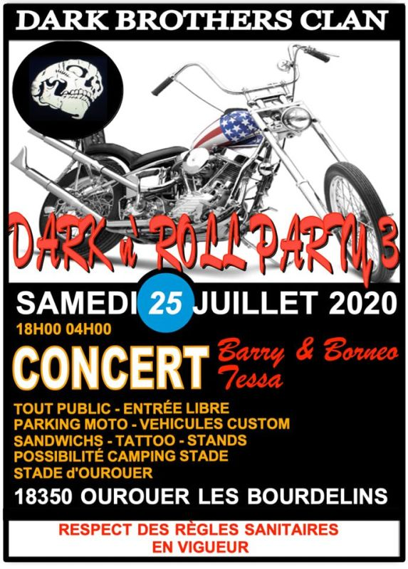 DARK N ROLL PARTY 3 - 25 juillet 2020