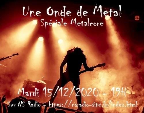 Le Metalcore sur Une Onde de Metal - 15-12-20