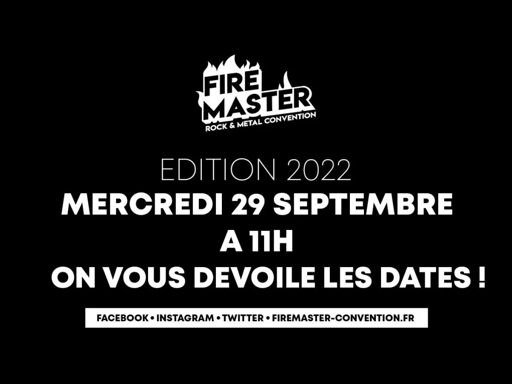 FireMaster Convention 2022 Annonce