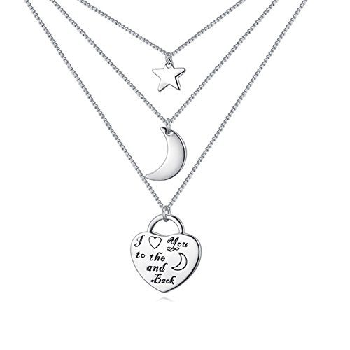 NEEMODA I LOVE YOU TO THE MOON AND BACK 18K White Gold