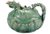 Celadon pitcher in the shape of a tortoise (Goryeo Dynasty)