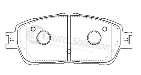 Brake Pad Front DB1490KC Rear DB1660KC fitsToyota Alphard