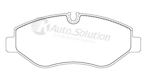 Iveco Daily 45C18 50C17 50C18 65C18 70C17 Front Brake Pads
