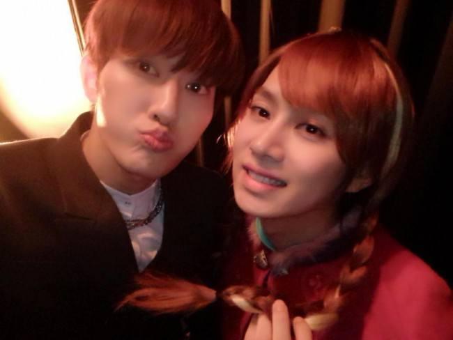 Zhoumi, Heechul at SM Halloween Party 2014
