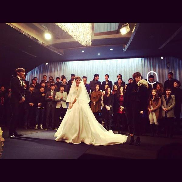 Block B U-kwon at friend's wedding with Sunhye