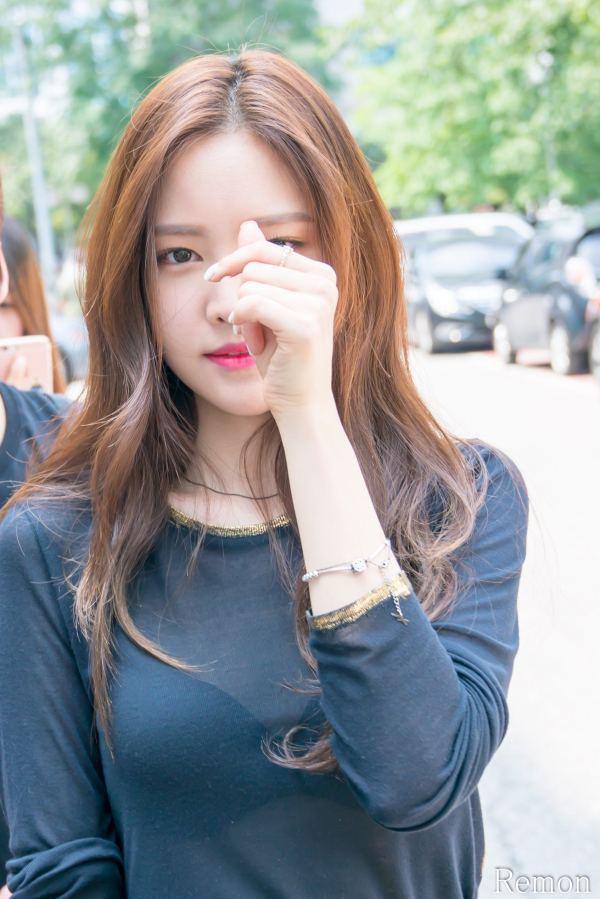 Naeun Spotted Wearing - Shirt In Public