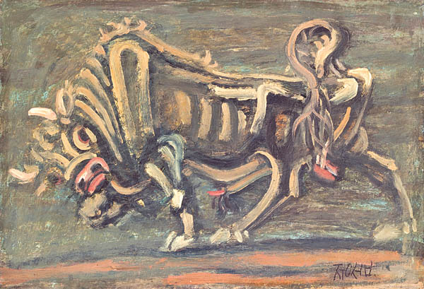 """Bull"" (circa 1953) by Lee Jung-seob. The National Museum of Modern and Contemporary Art will hold a retrospective of the artist to celebrate his 100th birthday. [SEOUL MUSEUM]"