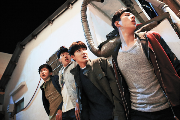 "In the upcoming film ""One Way Trip,"" actors, from left, Kim Hee-chan, Ryu Jun-yeol, Kim Joon-myeon and Kim Ji-soo play four reckless yet innocent boys who take off on their first trip together, only to be swept up in an unexpected incident that threatens to tear their friendship apart. The film opens on Thursday."