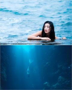 Actress Jun Ji-hyun transforms into a mermaid in drama 'Legend of the Blue Sea' (Image in courtesy of KBS).