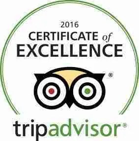 Trip Advisor 2015 Certificate of Excellence Winner
