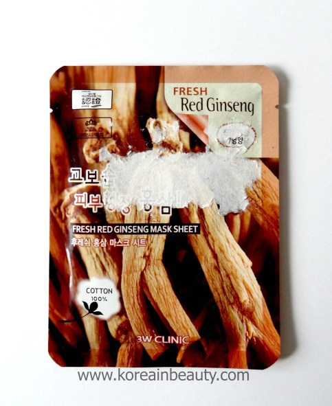 3W Clinic Fresh red ginseng