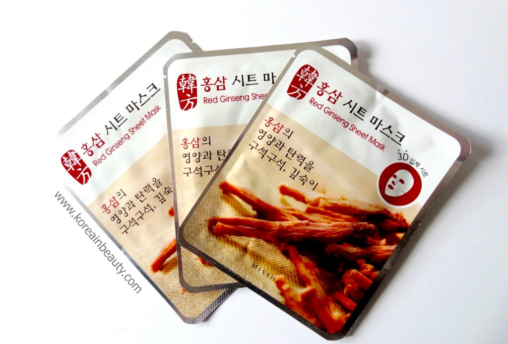 Missha 3D Red Ginseng Sheet Mask