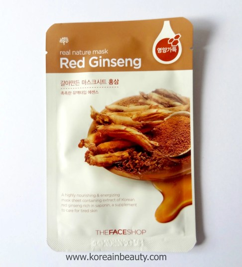 The face shop red ginseng sheet mask