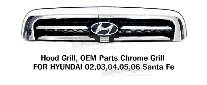 OEM Genuine Parts Front Chrome Hood Radiator Grill For