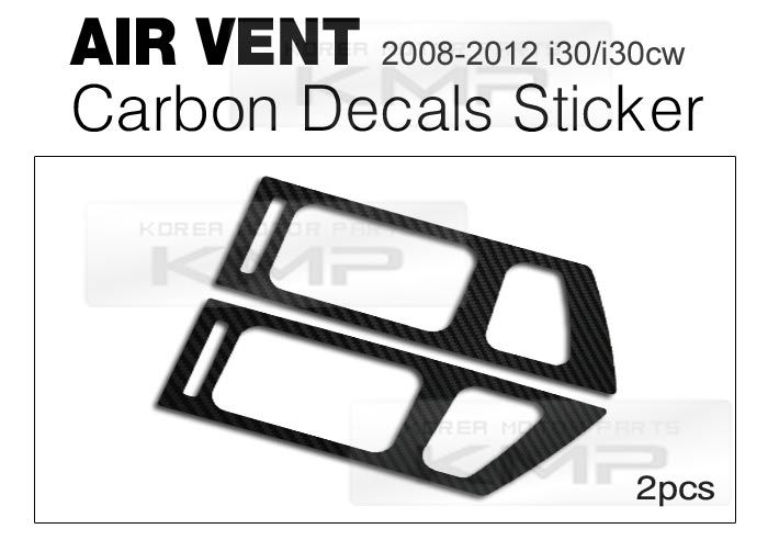 Air Vents Carbon Decals Stickers Fit HYUNDAI 2008-2012 i30