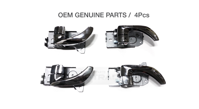 OEM Chrome Inside Door Catch Molding 4Pcs For KIA 2003