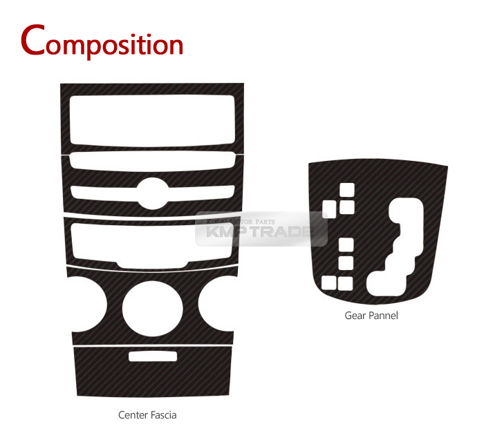 Carbon Gear Center Fascia Decal Cover for SSANGYONG 2012