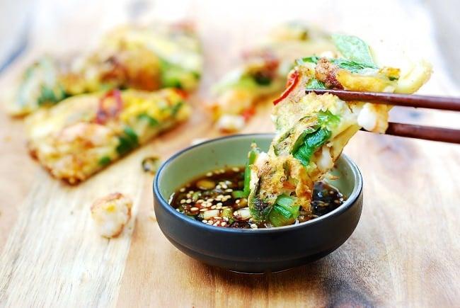 Haemul Pajeon - Crispy Korean seafood scallion pancakes!