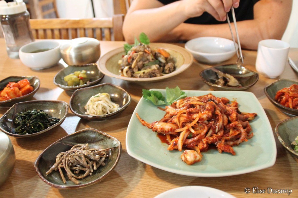 Repas coréen ©Elise Ducamp