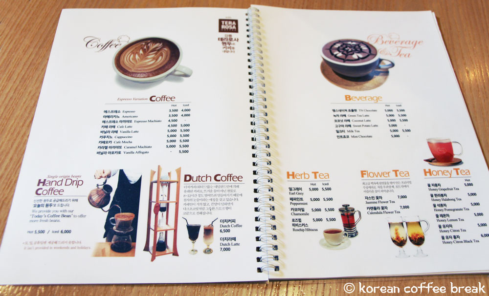 Thanks Nature Cafe menu