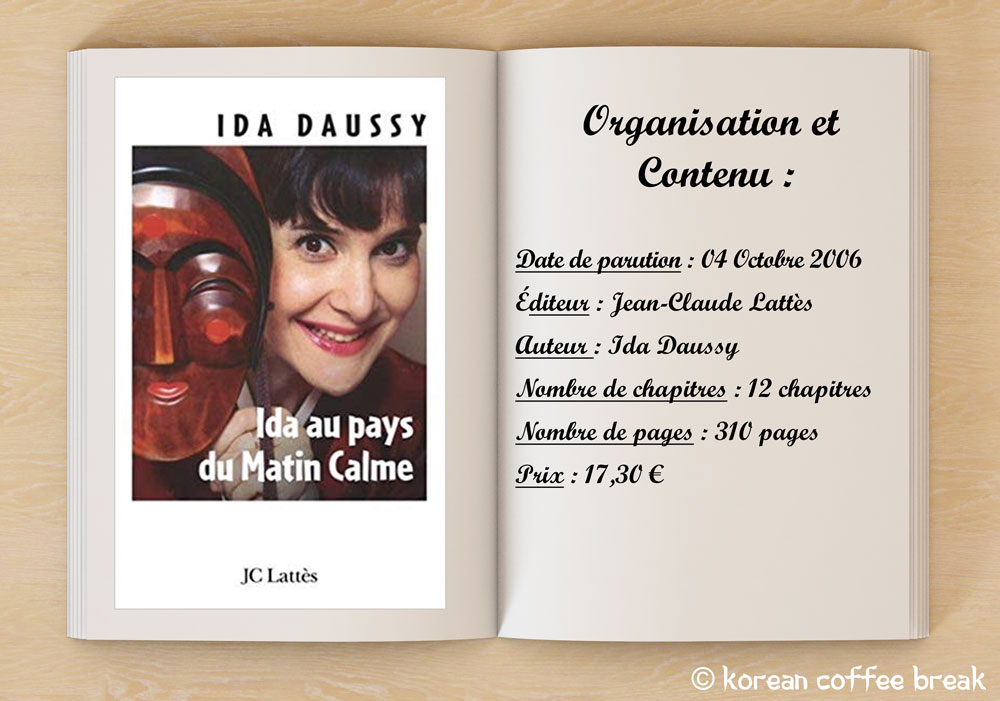 Decouverte Des Livres D Ida Daussy Korean Coffee Break