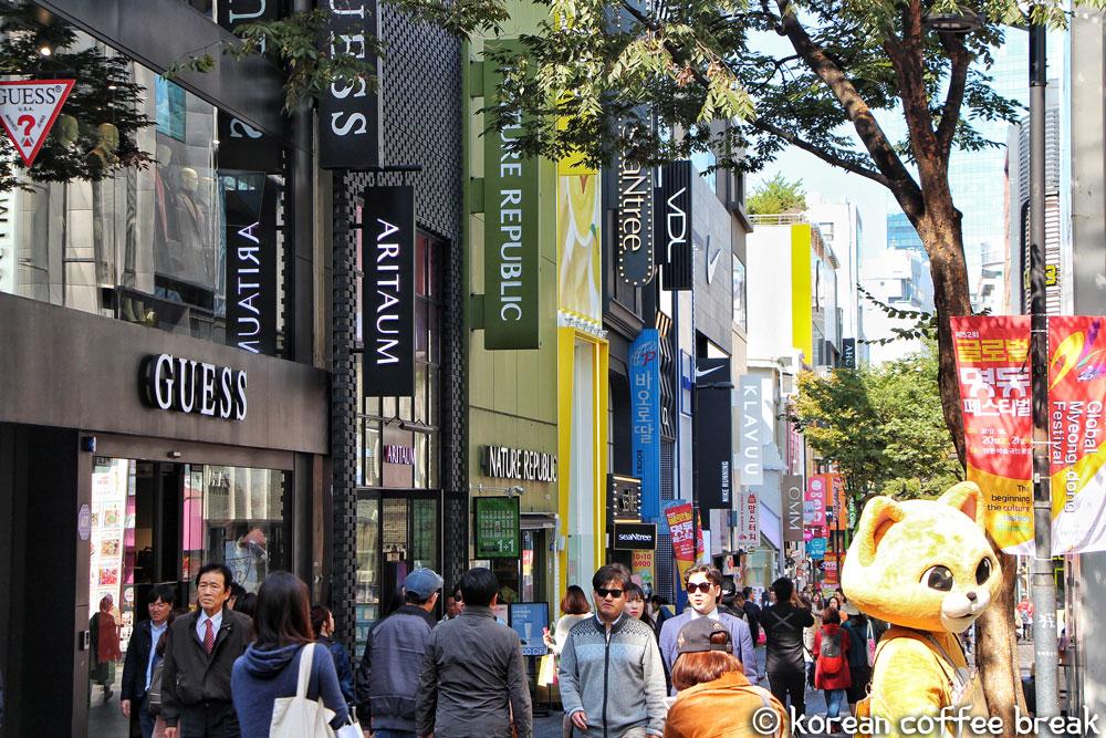Le quartier de Myeongdong