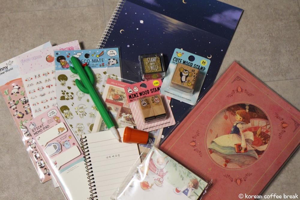 Souvenirs de Corée du Sud : papeterie