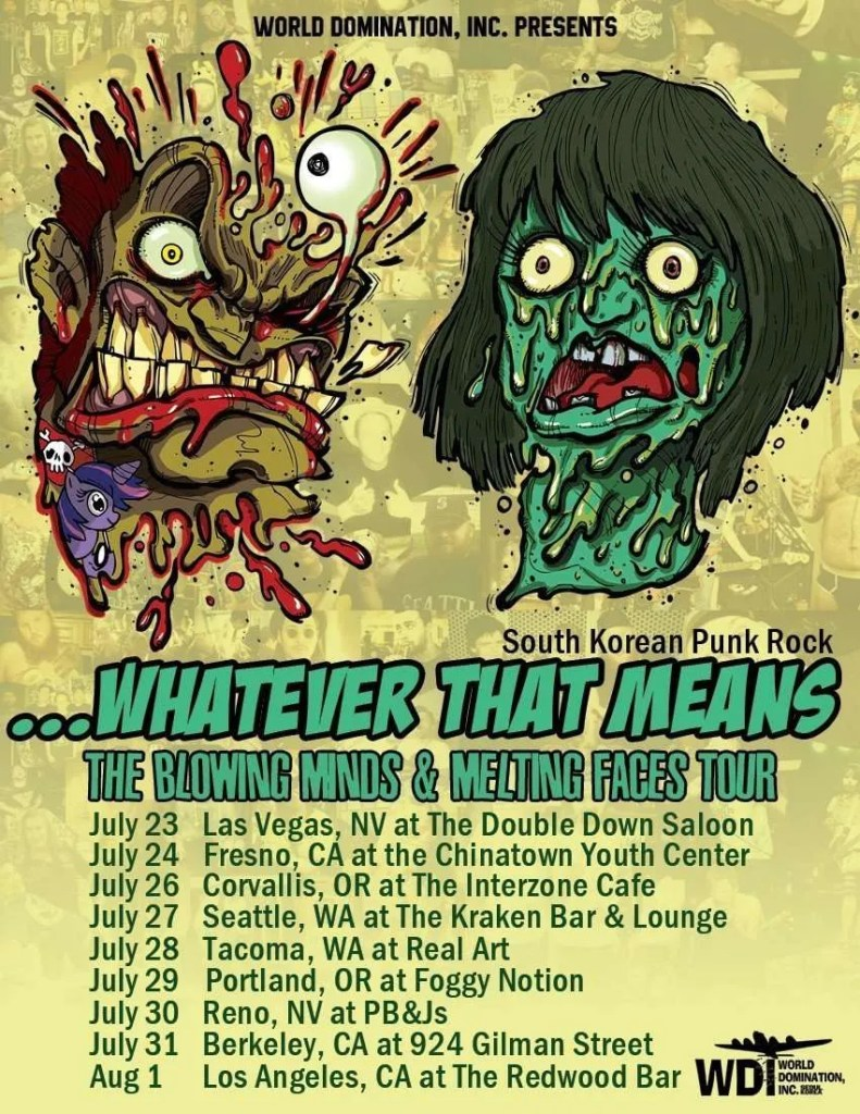 whatever that means the blowing minds & melting faces tour