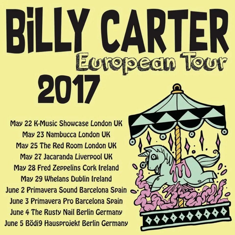 billy carter tour poster