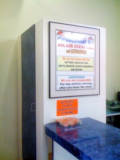 Inside Solair Cleaners