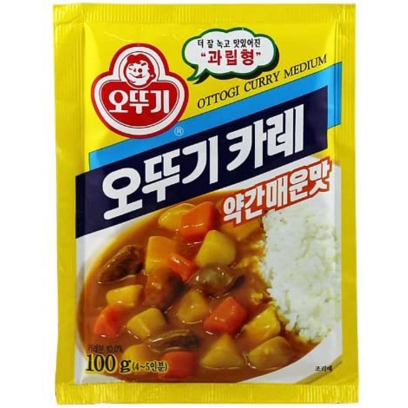 不倒翁咖喱粉(中辣)100g_廚房調味_糧油調味_萊斯特韓品超市