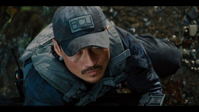 "Brian Tee in Universal Pictures' upcoming Hollywood blockbuster ""Jurassic World"" as Hamada. ""He's head of security for the park that they've opened in the movie Jurassic World,"" said Tee."